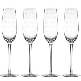 -SET OF 4 CHAMPAGNE FLUTES