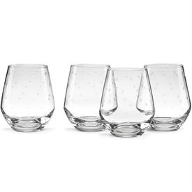 -SET OF 4 STEMLESS WINE GLASSES