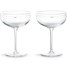 -PAIR SAUCER CHAMPAGNE TOASTING GLASSES