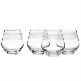 -4 PIECE STEMLESS WHITE WINE GLASS SET