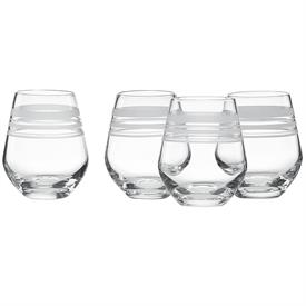 -4 PIECE STEMLESS RED WINE GLASS SET