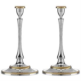 "-PAIR OF CANDLESTICKS. 10"" TALL"