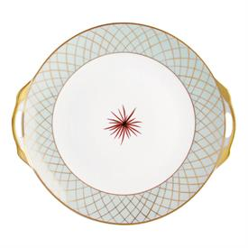 -CAKE PLATE WITH HANDLES. 11""