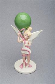 ",-WRAPPED WITH LOVE TINK FIGURINE. 6.75"" TALL. HAND PAINTED PORCELAIN."