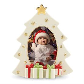 "_CHRISTMAS TREE FRAME. 9"" TALL. HOLDS 4X6"" PHOTO. MSRP $60.00"