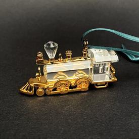 """,CHRISTMAS MEMORIES 'LOCOMOTIVE' TRAIN ENGINE ORNAMENT. ORIGINAL BOX. 2.5"""" LONG. CA. 1998-2002"""