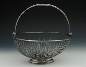 ",FRUIT BASKET GEORGIAN SILVER MADE IN ENGLAND BY JOHN WAKELINA & ROBERT GARRARD IN 1793 WEIGHT 30.20 T.OZ 10"" DIAMETER 5.1"" TALL"