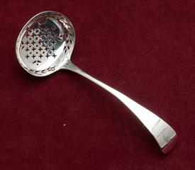 ",SUGAR SIFTER/STRAINER 1.15 TROY OUNCES STERLING SILVER GEORGIAN PERIOD ENGLAND 6.25"" LONG"