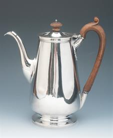 ",COFFEE POT STERLING SILVER MADE IN LONDON, ENGLAND IN YEAR 1813 CONTAINS 28.80 TROY OUNCES MEASURES 9.75"" TALL"