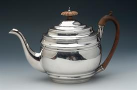 ",TEA POT STERLING SILVER MADE IN LONDON, ENGLAND IN YEAR 1802 CONTAINS 16 TROY OUNCES 7"" TALL"