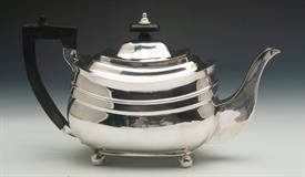 """,TEA POT MADE IN LONDON IN THE EARLY 19TH CENTURY STERLING SILVER 20.25 TROY OUNCES LION CREST ENGRAVING 6.25"""" TALL CONDITION IS A 9 OF 10"""