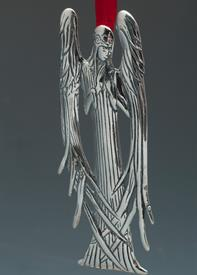 -,3451 BEARDSLEY ANGEL STERLING SILVER ORNAMENT BY HAND & HAMMER 2""