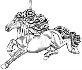 -,3881 XANTHUS HORSE STERLING SILVER ORNAMENT BY HAND & HAMMER