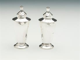 "ENGLISH SALT & PEPPER SHAKERS STERLING SILVER 3.15 TROY OUNCES 3.4"" TALL"