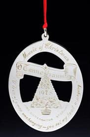 1978 CHRISTMAS TREE STERLING SILVER ORNAMENT WITH BOX