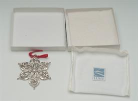 ",1999 SNOWFLAKE MEDALLION ORNAMENT. #32438. WITH BOX & POUCH. 3"". STERLING SILVER"
