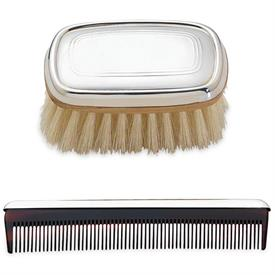 -$P830 KENT BOY'S BRUSH & COMB SET. PEWTER. GIFT BOXED. BREAKAGE REPLACEMENT AVAILABLE.