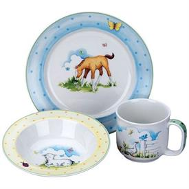 -,$CW608 FARMYARD 3 P.SET  BOWL,SIPPY CUP,PLATEL