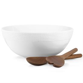 -SALAD BOWL WITH WOOD SERVERS