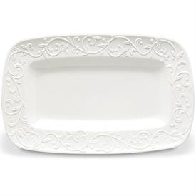 "-HORS D'OEUVRES TRAY. 12"" LONG, 7.5"" WIDE. DISHWASHER & MICROWAVE SAFE. BREAKAGE REPLACEMENT AVAILABLE. MSRP $72.00"