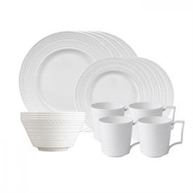 -16 PIECE SET. INCLUDES 4 DINNER PLATES, 4 SALAD PLATES, 4 CEREAL BOWLS & 4 MUGS.