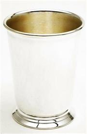 "-,21072 SP JULEP CUP 4 1/4"" IN HEIGHT FOOTED,PLAIN SIDES NO DESIGN."