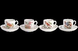 -SET OF 4 TEA CUPS & SAUCERS