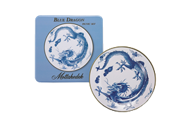 -SET OF 4 TIN PLATES. 10.25""