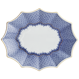 "-LARGE FLUTED TRAY, 11.5"" LONG, 9.25"" WIDE"