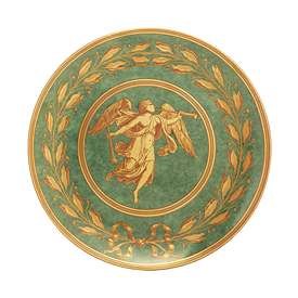 -LUNCHEON PLATE  GREEN