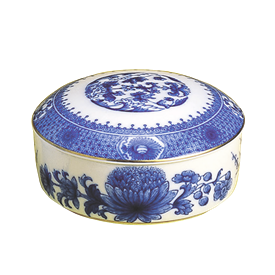 -LARGE ROUND BOX WITH LID. 4.5""