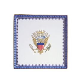 """-CANAPE PLATE WITH EAGLE. 8"""""""