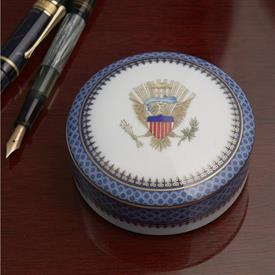 -ROUND BOX WITH EAGLE ON LID, 3.75""