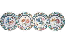 -SET OF 4 SALAD/DESSERT PLATES