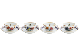 -SET OF 4 TEA CUPS & SAUCERS