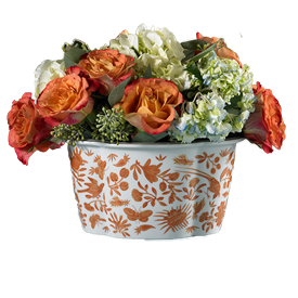 """-LOBED CACHEPOT. 8.5"""" WIDE, 6.5"""" TALL"""