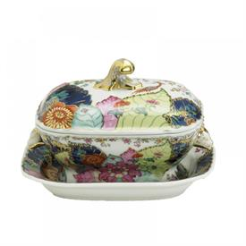 -SMALL TUREEN & STAND. 12 OUNCE CAPACITY