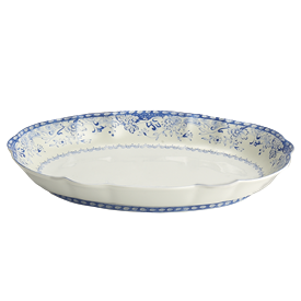 "-OVAL SERVING DISH. 11.5"" LONG, 8"" WIDE"