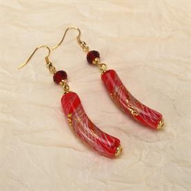 -,05341 ALLEGRIA RED EARRINGS