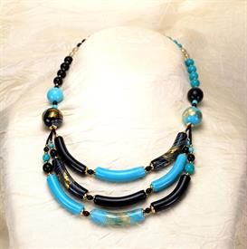,-05324 CAPRICIA NECKLACE IN TURQUOISE, BLACK
