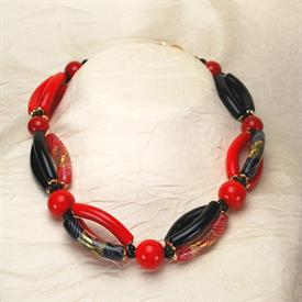 ,-05318 ALLEGRIA NECKLACE IN RED, BLACK