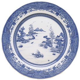 -'DAGGER MOUNTAIN' PLATE, 11.25""