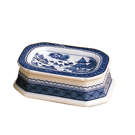 "-MASTER SALT CELLAR. 4"" LONG, 3"" WIDE"