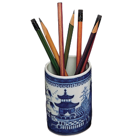 "-PENCIL CUP, 3.5"" TALL"