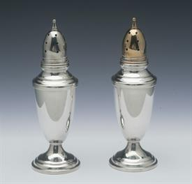 "SALT & PEPPERS TOWLE STERLING SILVER 1.5 TROY OUNCES PER PAIR NOT WEIGHTED OR LINED/ALL SILVER 4.75"" TALL - NEW CONDITION"