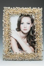 -2030746B FRAME 4X6 DECORATIVE CLEAR/GOLD