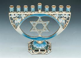 "-3190060 MENORAH WITH STAR OF DAVID 8""X6.5""X 2"""