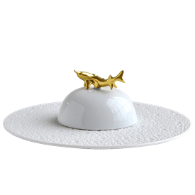 -CAVIAR PLATE & BELL COVER.