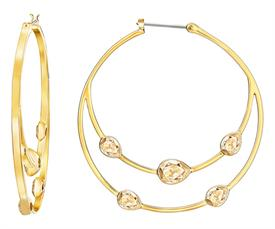 _5279796 GAZE HOOP PIERCED EARRINGS IN GOLD