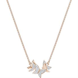 "-,5382366 LILIA NECKLACE. SIZE SMALL IN CLEAR & ROSE GOLD. 14.8"" LONG"